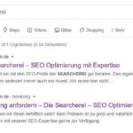 Searcherei bei Google
